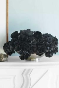 Black Paper Flower