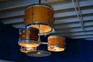 Drum Kit into Chandeliers