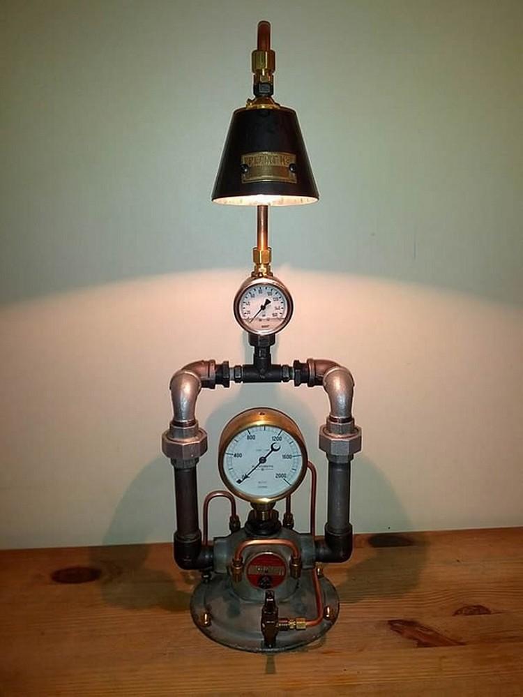 Industrial Clocks and Lamp Art