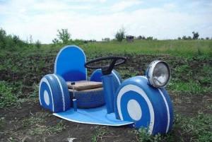Kids Car with Repurposed Tires