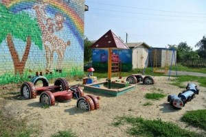 Kids Playland with Recycled Tires