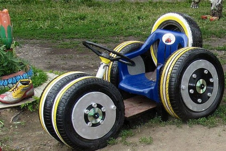 Kids Van Made with Used Tires