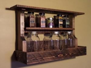 Pallet Wooden Spice Rack