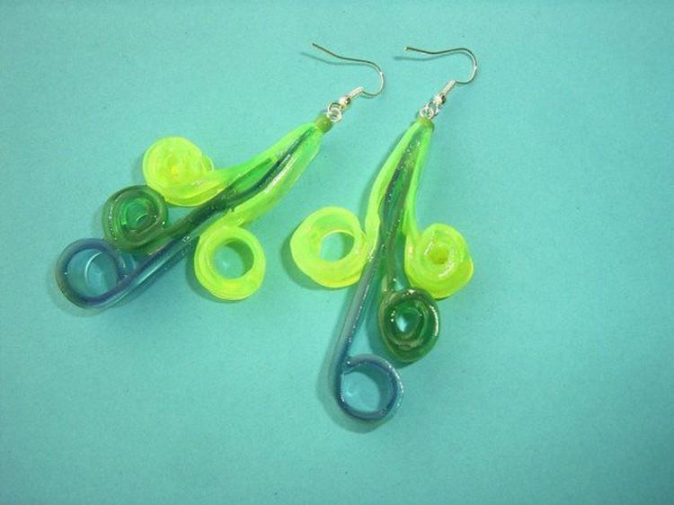 Plastic Ice Cream Spoons Earrings