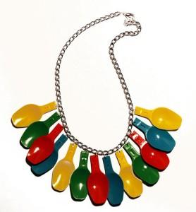 Plastic Ice Cream Spoons Necklace