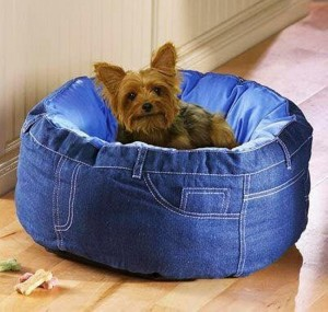 Recycled Jeans Dog Bed