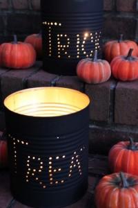 Tin Can Halloween Decor
