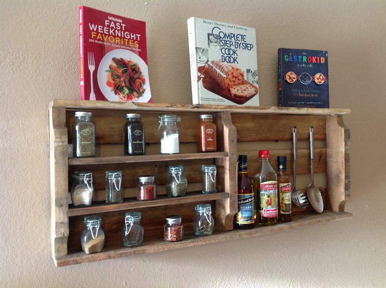 Upcycled Pallet Spice Rack