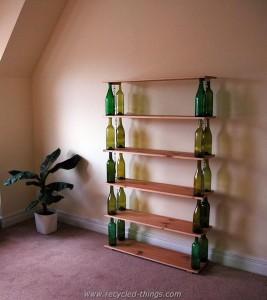 Wine Bottles Bookshelf