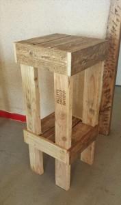 Wood Pallet Stool