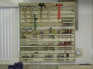 Wood Pallet Tool Rack