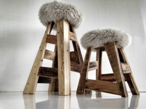 Wooden Pallet Stools