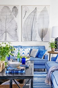 Ideas for Decorating with Blue and White