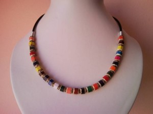 Colorful Pencil Handcrafted Necklace