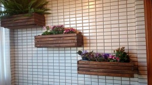 Pallet Wall Hanging Planters