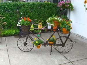Patio Decor with Scrape Bicycle