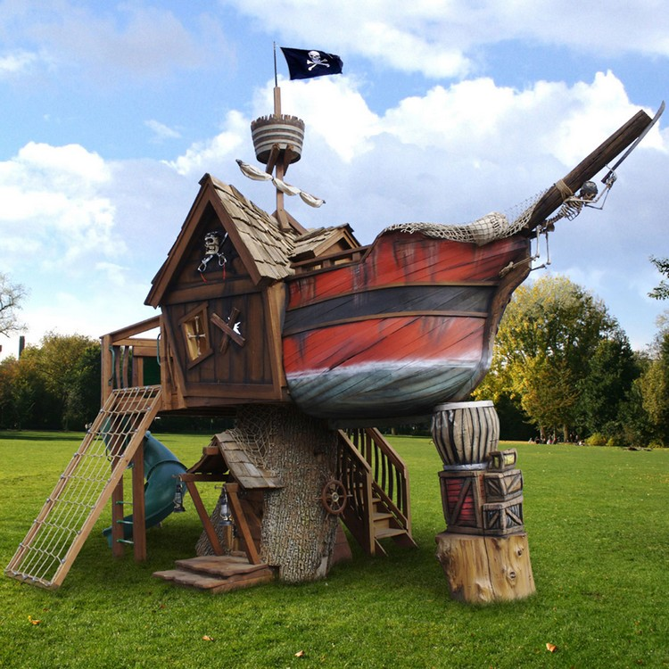 Pirate Ship Tree Playhouse
