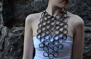 Recycled Rubber Necklace
