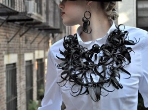 Upcycled Rubber Necklce