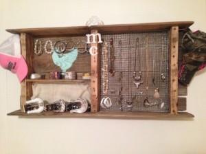 Wood Pallet Jewelry Hanger