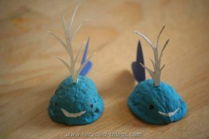 Animals Made with Walnut, Crafts for Kids
