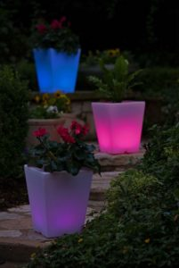 Colorful LED Planters