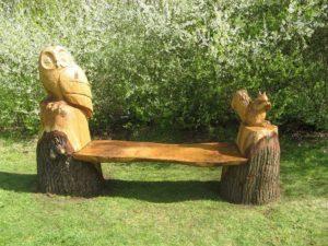 Creative Tree Trunks Garden Furniture