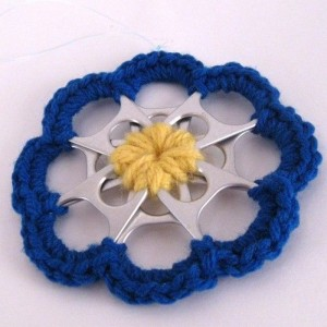 Crochet and Pop Tabs Flower