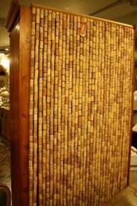 Curtains Made with Wine Corks