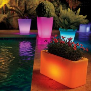 LED Planters for Outdoor Decor