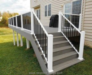 Outdoor Deck with Stairs