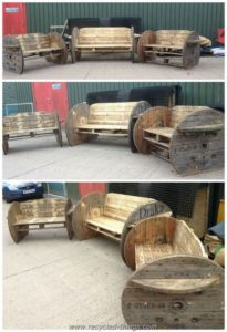 Pallets and Cable Spool Benches
