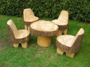 Recycled Tree Trunks