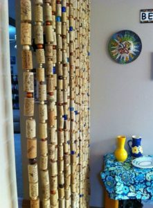 Recycled Wine Corks Curtain