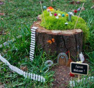 Tree Trunk Garden Ideas