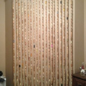 Wine Corks Cutain Idea
