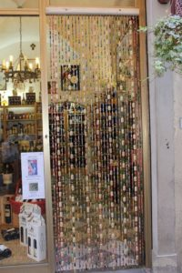 Wine Corks Recycled for Curtains