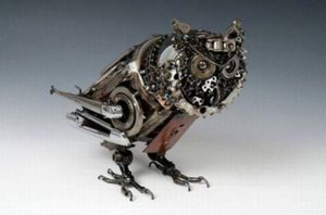 Bicycle Parts Owl