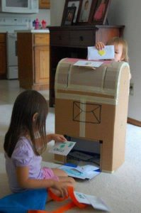 Cardboard Letter Box for Kids