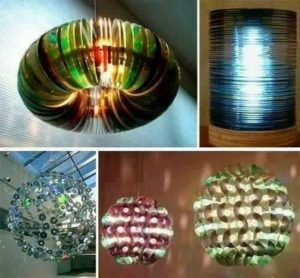 Chandelier Ideas with Old CDs