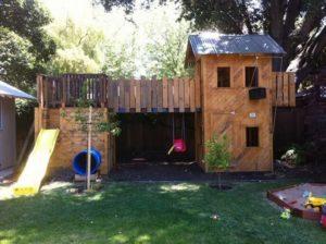 Huge Pallet Playhouse for Kids
