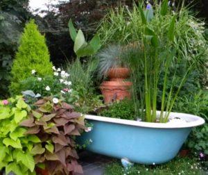 Old Bathtub Garden Art