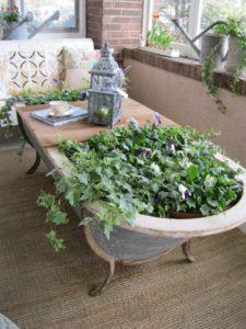 Old Bathtub Table cum Planter