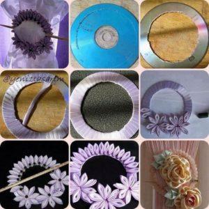Old CDs Wreath Idea