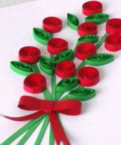 Paper Quilling Art Flower