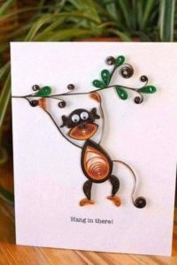 Paper Quilling Art Monkey
