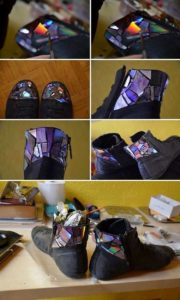 Recycled CDs Shoe Reshape