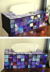 Recycled CDs Tissue Paper Box Wrap