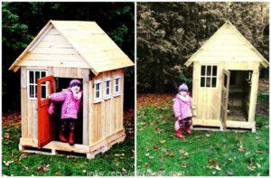 Wood Pallet Playhouse