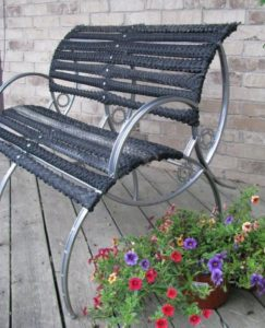 Bicycle Wheels Bench